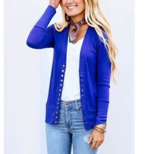ed0b2d5aa0 Sweaters - BEST SELLING ✨ DENIM BLUE SNAP BUTTON CARDIGAN